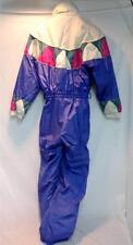 Fera Women's Snow Ski Suit Vintage Blue White Pink Sz 6 Used Good Condition