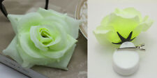 1pcs NEW Silk Rose Hair Accessory Flower Hairpin Hair Clip For Prom Milk white