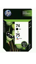 74 & 75 HP black color ink PhotoSmart D5360 D5345 C5580 C5550 C5540 C5280 C5250