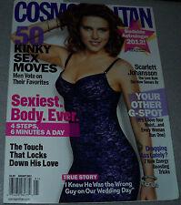 Cosmopolitan Magazine January 2012 Scarlett Johansson Taio Cruz