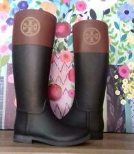 e69db31602e2 Tory Burch Classic Rain BOOTS Black Almond Size 8