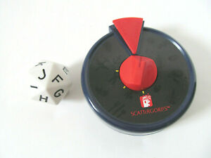 Scattergories Game Replacement Parts Timer 20 Side Alphabet Letter Dice Q3