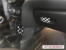 3 pcs Racing Checkered interior emblem for MINI Cooper S F55/F56/F57 JCW HARDTOP