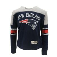 New England Patriots NFL Kids Youth Girls Distressed Hooded Light Sweatshirt New