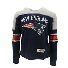 New England Patriots NFL Kids Youth Girls Distressed Hooded Light Sweatshirt New