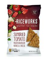 Riceworks Sundried Tomato Gourmet Rice Chips - Flavorful Gluten Free Snacks Made