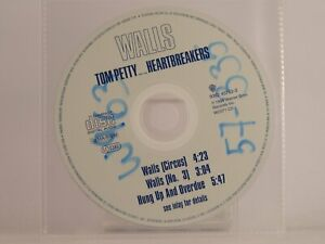 TOM PETTY AND THE HEARTBREAKERS WALLS (X9) 3 Track CD Single Plastic Sleeve