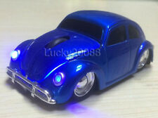 VW Beetle Car 2.4Ghz Wireless Mouse USB Optical Mice Bug for Laptop PC Gift Blue