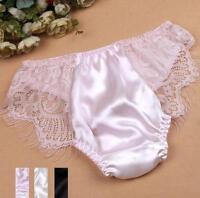 1 Pcs 100% Pure Silk Women's Sexy Lace Underwear Lingerie Panties M L XL New