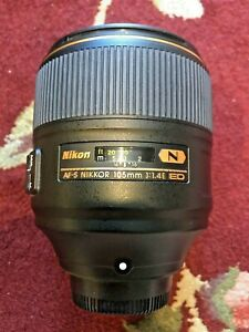 Nikon AF-S NIKKOR 105mm F/1.4E ED (Great Condition!)