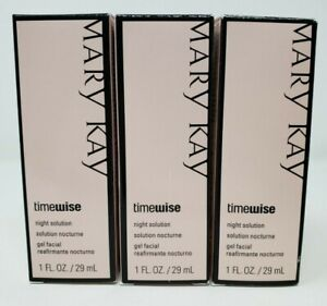 Lot Of 3 New Mary Kay TimeWise NIGHT SOLUTION NIB 1 Oz DISCONTINUED Ships Free