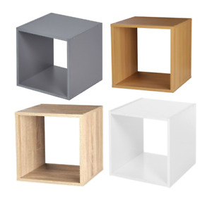 WOODEN STORAGE CUBE BOOKCASE SHELF HOLDER DISPLAY STAND BOX BEDROOM HOME