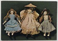 Late Victorian Dolls Harris Museum Art Gallery Preston Vintage Postcard