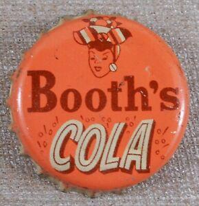 Vintage 1940's Booth's Cola Soda Cork Lined Bottle Cap