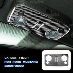 Carbon Fiber Reading Light Button Panel Sticker Trim For Ford Mustang GT 05-09