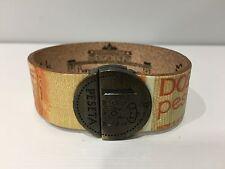 New - Pulsera Bracelet - Banconote e Monete 1 PESETA 200 Pesetas - Size 19,5 cm