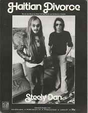 STEELY DAN Haitian Divorce Ex Anchor Music UK 1976 Music Sheet