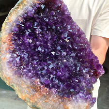 12.98LB Natural Purple Amethyst Point Quartz Crystal Rock Stone Mineral Specimen