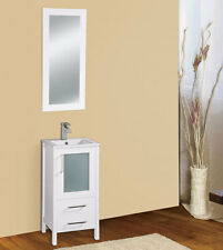 "Dowell 17"" 019 18 01 Single Sink Bathroom Vanity White Color"