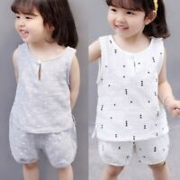 2pcs Toddler Kid Baby Girl Clothes Shirt Tops Shorts Pants Outfits Set 2-7Y dry