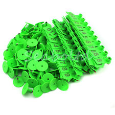 Green 1 100 Number Plastic Livestock Ear Tag Animal Tag For Goat Sheep Pig