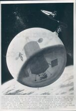 1965 Press Photo Artist Conception Plastic Cocoon Workshop in Space