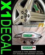 Jaguar Type 'R' racing caliper Repair sticker decal cut for S Type GrnRedSil x1