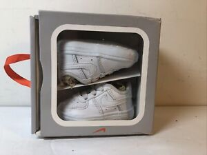 Nike Force 1 Crib White/White CK2201 100  CB Baby Sneakers Sz 1C