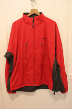 LL Bean Men's Running / Exercise Windbreaker Jacket Red Fleece-lined XXL 2XL
