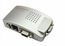ADATTATORE CONVERTITORE DA PC COMPUTER NOTEBOOK A TV DA VGA A RCA SCART