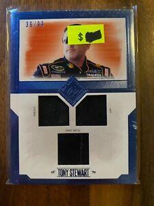 A69164 - 2012 Total Memorabilia Triple Swatch Silver #TMTS Tony Stewart/99