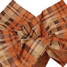 200 Sheets Fall Plaid Tissue Paper - Brown/Rust/Orange/Tan # 581 - Bulk Pricing*