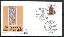 """BRD FDC MiNr 1738 (1) """"800. Geburtstag von Kaiser Friedrich II"""" -Monarch-Adel-"""
