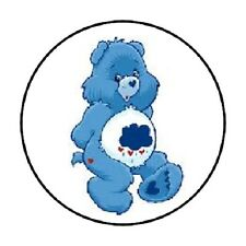 """48 BLUE CARE BEARS GUMPY ENVELOPE SEALS LABELS STICKERS 1.2"""" ROUND"""