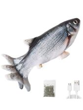 Leven Realistic Flopping Fish, Cat Toy, Moving Cat Kicker, Motion Activated
