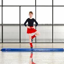 Soozier 8ft Low Height Beam Folding Floor Balance Beam Home Gym Kids Blue