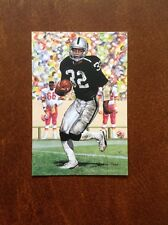 Marcus Allen Raiders unsigned Goal Line Art Card with slight corner wear