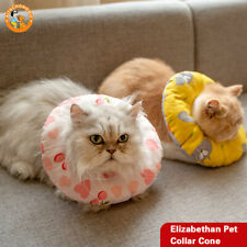 Pet Anti-bite Elizabethan Collar Cone Kitten Cat Wound Healing Soft Neck Protect