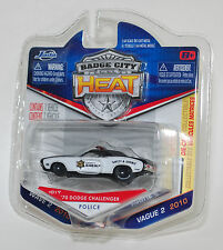 Jada BADGE CITY HEAT 1970 DODGE CHALLENGER POLICE SHERIFF WAVE 2 #017 1/64