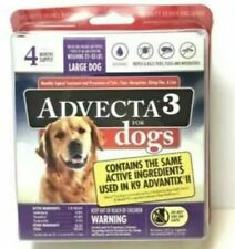 ADVECTA 3 Flea & Tick Treatment for Large Dogs  21 to 55 lbs 4 Month Supply New