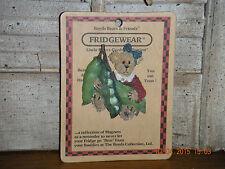 Boyds Bears 2000 ~Peas~ Fridgewear Magnet Style #26901