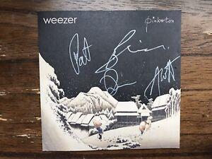 Weezer Autograph Pinkerton Album Sleeve