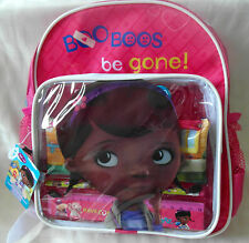 NEW DISNEY DOC MCSTUFFINS GIRLS FILLED BACKPACK WITH STATIONERY & Pencil Case