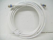 RG6 Coax Jumper Cable 15 ft (White) (New) Easy Twist Connector (Lot of 100)