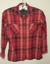 POLO JEANS CO Womens GENTLY WORN Red Plaid LS Cotton Shirt Top Size L