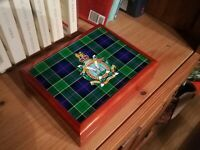 Kngs Own Scottish Borderers KOSB  Military Medals and Memorabilia Box, Fab Gift