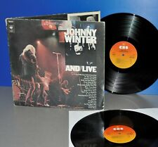 Johnny Winter AND/LIVE NL '76 1st press Vinyl LP Vinyl top cleaned play graded