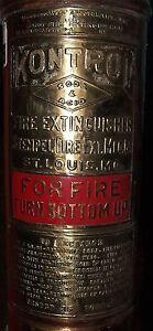 Vintage Stempel Kontrol 2.5 Gallon Brass Copper Fire Extinguisher Dorchester MA