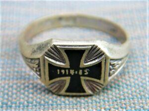 Patriotischer Ring verziert Eisernes Kreuz 1914-15 100% orig.