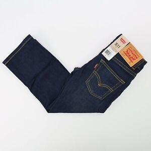 Boys Size 4 Levi's 511 Jeans; Adjustable Waist; Dark Wash; Slim Fit
